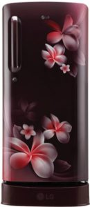 Scarlet Plumeria, GL-D201ASPX 4 Star Rated 190 Litre Refrigerator India