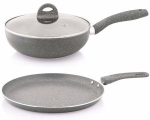 Nirlon Ceramic Aluminium Cookware Set