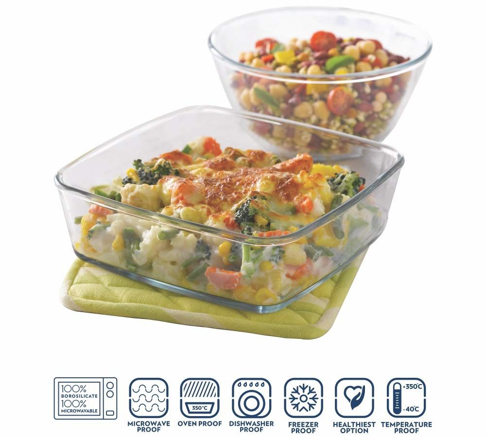 Borosil Mixing Bown & Baking Dishes - Best BakeWare Brand in India