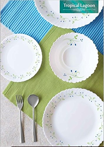 Cello Tropical Lagoon 37 Piece Dinnerware set India