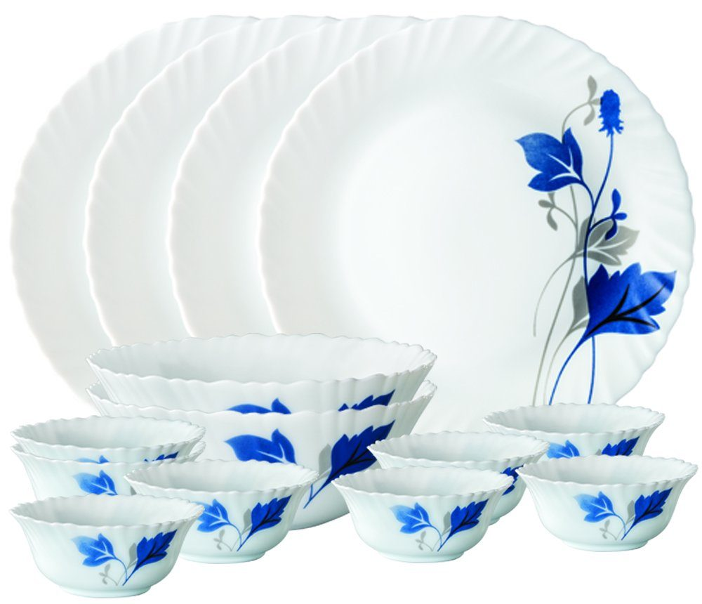 Larah By Borosil Dinner Set with 14 Pieces