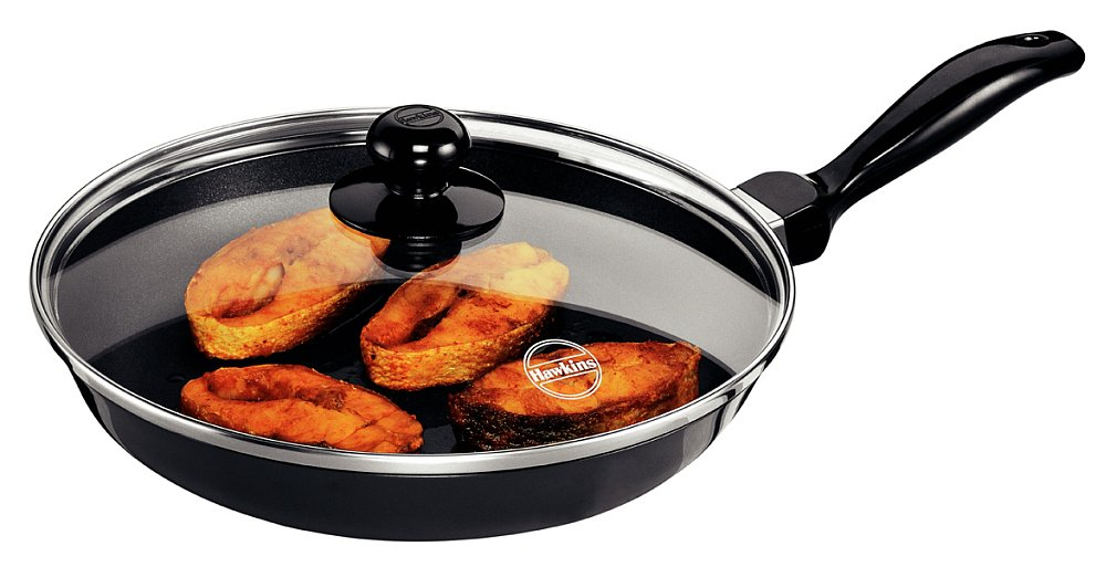 Hawkins Futura Non-Stick Frying Pan with Glass Lid Review & Price