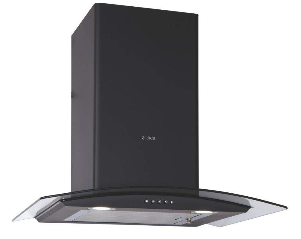 Elica Kitchen Chimney ESCG BF 60 NERO with 1 Baffle Filter - Best 60cm Elica Chimney India